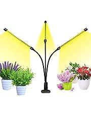 Zredurney 植物育成ライト 3ヘッド 360°調整可能な USB電源 6レベル調光ライト タイミング機能付き(3H/6H/12H) 日照不足解消 水耕栽培ライト 家庭用野菜園 屋内園芸 水耕栽培植物ライト 屋内水耕栽培ランプ (暖)