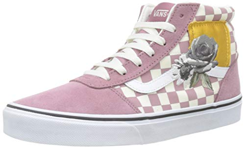 Vans Damen Ward Hi Suede/Canvas Hohe Sneaker, Mehrfarbig ((Red) Checker/Rose Xow), 40 EU