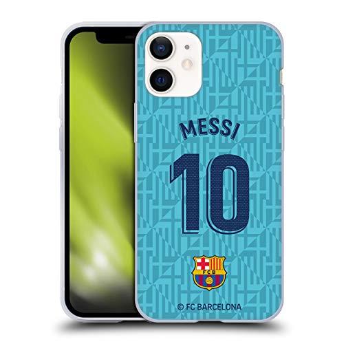 Head Case Designs Oficial FC Barcelona Lionel Messi 2019/20 Jugadores Tercer Kit Grupo 1 Carcasa de Gel de Silicona Compatible con Apple iPhone 12 Mini
