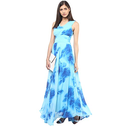 Harpa Women's Polyester A-Line Maxi Dress