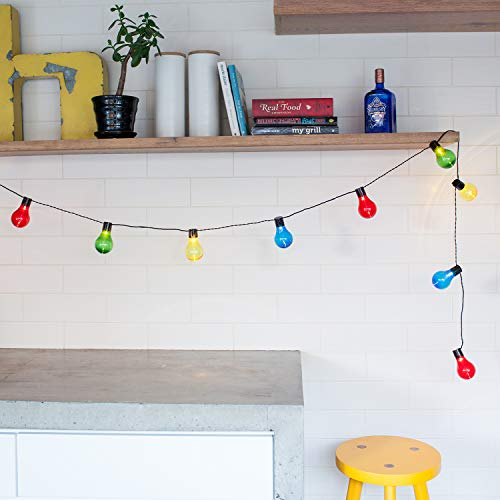 Lights4fun Set of 60 Multi Coloured LED Connectable Festoon Party Lights Indoor Use Plug in
