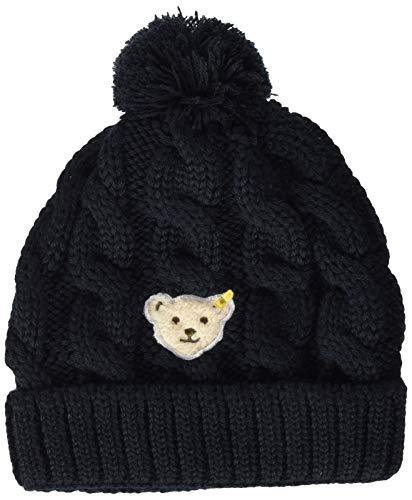 Steiff Baby-Mädchen Mütze, Blau (BLACK IRIS 3032), 51 (Herstellergröße:51)