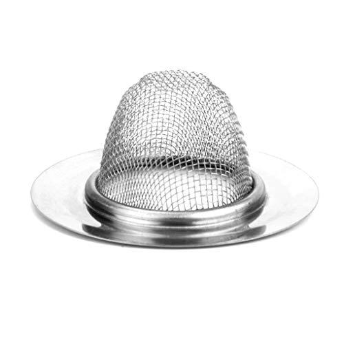 Edelstahl-Wannen-Sieb-Filter Wasser-Stopper Edelstahl-Wannen-Sieb-Fußboden-Abfluss-Haar-Catcher Badewanne Stopper Bodenablauf Haarfänger Bad-Accessoires