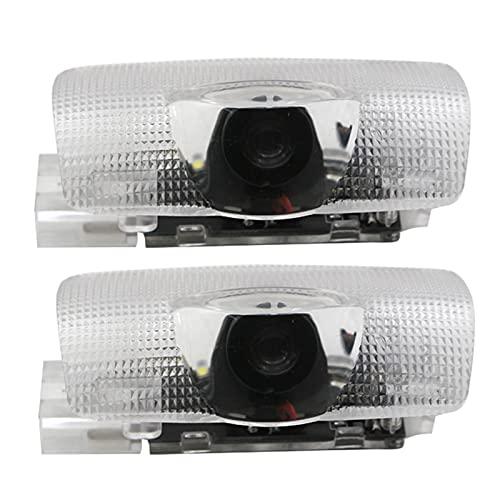 CXIN 2 Luces de Bienvenida de la Puerta LED, proyector de Logotipo de luz Fantasma, Utilizado para Mark X Reiz 2006-2017 Luces de decoración de Estilo de automóvil para iluminar Luces de Piso