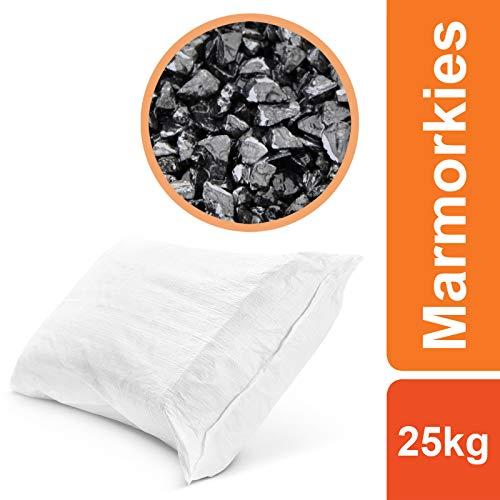 BEKATEQ Naturstein Marmorkies BK-590 Steinteppich Dekosteine, Nero Ebano - 3-5mm - 25kg