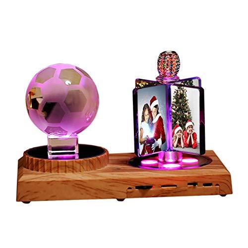 Luz De Foto Personalizada Bluetooth Lámpara De Cristal Bluetooth Luz Led De 7 Colores Con Cristal Caja De Música De Baloncesto Regalo De Cumpleaños Del Día De La Madre(Fútbol Americano 6.3 * 5.1IN)