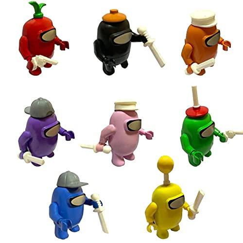 BESTZY Among Us Figuras en Miniatura 8PCS Among Us Figure Toy Entre...