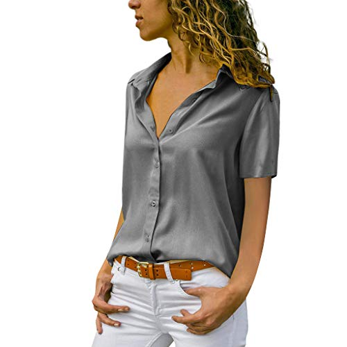 MRULIC Damen Shirt Tie-Bow Neck Striped Langarm Spleiß Bluse Gestreift Damen Tragen Tops Pullover(C-Grau,EU-42/CN-XL)