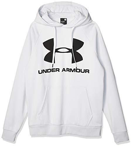 Under Armour Sudadera con Capucha De Tejido Fleece Y Logotipo UA Rival, Hombre, Gray, MD