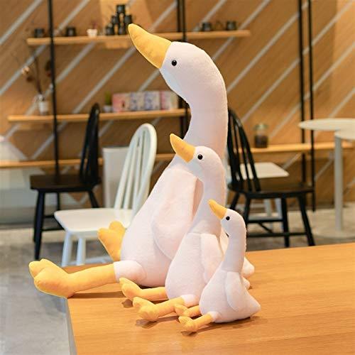 Zzlush gefüllte Spielzeug Plüschspielwaren Puppe gefüllte Tiere Figur Spielzeug - kreative dreifarbige Cartoon-Puppe mit Einer Ente, jubelnde Ente Plüschtier, großes weißes Ganskissen, Kindergeschenk