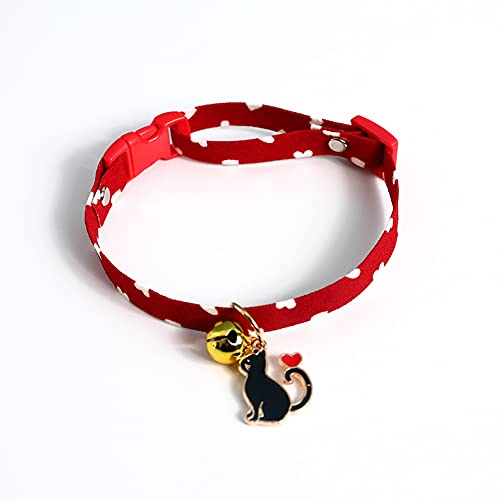 Collar de gato ajustable con pajarita roja con campana para perro pequeño cachorro disfraz