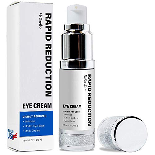 Viebeauti Rapid Reduction Eye Cream - Made in the USA - Instantly and Visibly Reduce Under-Eye Bags, Wrinkles, Dark Circles, Fine Lines & Crow's Feet.