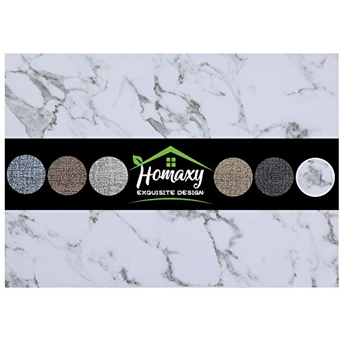 Homaxy Faux Leather Heat Resistant Placemats for Dining Table Set of 6, Waterproof Wipeable Washable PU Table Mats, Easy to Clean Anti-Slip Place Mats, 11.8' x 17', Marble