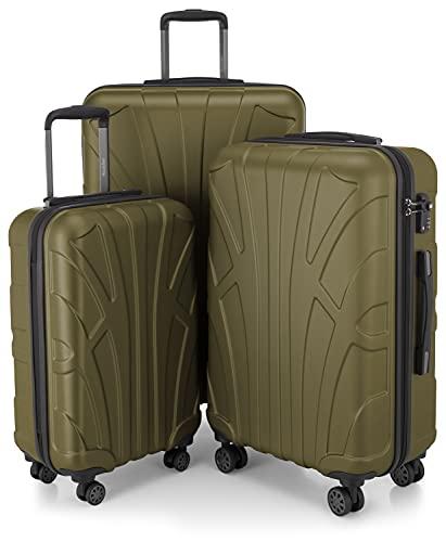 Suitline 3er Koffer-Set Trolley-Set Rollkoffer Hartschalen-Koffer Reisekoffer, TSA, (55...