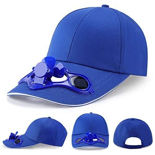 UKKD Gorra de Beisbol Unisex Hat Fan Cooling Camping Senderismo Sports Summer Béisbol Sombrero De Viaje Al Aire Libre con Ventilador Solar para Adultos