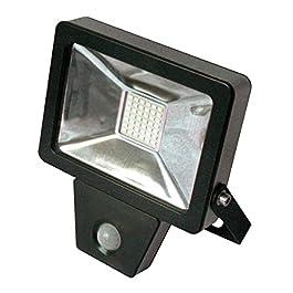 Projecteur plar SMD led detecteur 20 W noir – FOX LIGHT