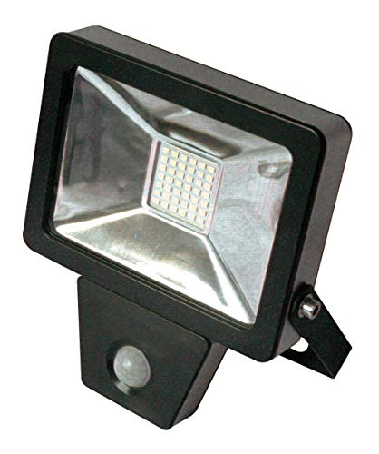 Projecteur plar SMD led detecteur 30 W noir - FOX LIGHT