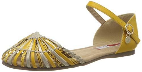 s.Oliver 5-5-28150-34, Sandali con Cinturino alla Caviglia Donna, Giallo Giallo Comb 616, 38 EU