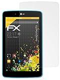 atFolix Panzerfolie kompatibel mit LG G Pad 7.0 Schutzfolie, entspiegelnde & stoßdämpfende FX Folie (2X)