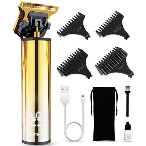 Liners Clippers for Men Cordless Hair Trimmers and Clippers Zero Gapped Trimmers Rechargeable Beard Trimmer Precision Trimmer for Men Barber Clippers Edgers Clippers Ornate Hair Clipper Gold Trimmer