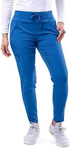 Adar Pro Scrubs for Women Ultimate Yoga Jogger Scrub Pants P7104 Royal Blue S product image