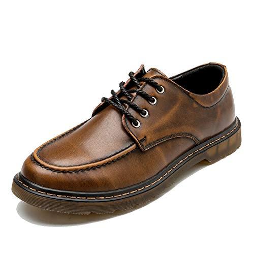 Casual Suede Shoe Oxford-beiläufige Retro- Bürsten-Farben-Rundkopf-Starke Unterseiten-Arbeitskleidungs-Schuhe der Männer Herren Sneaker (Color : Black, Size : 43 EU)