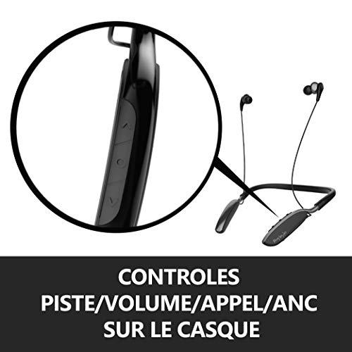 Divacore Hey by Jo, Ecouteurs sans Fil à Réduction de Bruit Active, Noir