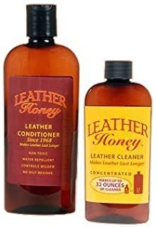 Leather Honey 全米の職人が愛用するプレミアムなレザーケア製品 レザーコンディショナー と レザークリーナー のセット