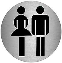 Oryx stickers voor dames/heren, roestvrij staal, Ø 7 cm, zilver, standaard
