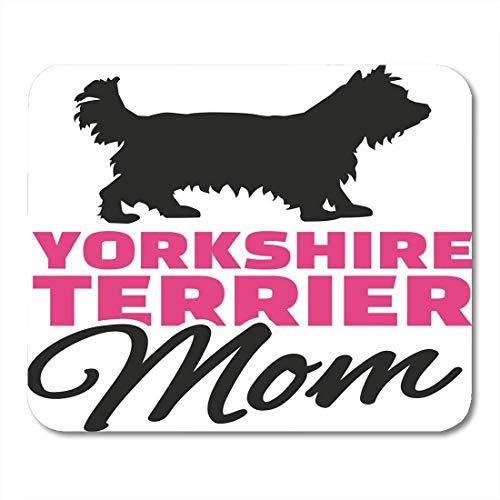 Mauspad yorkie yorkshire terrier mutter hund silhouette tierrasse hunde mousepad für notebooks, Desktop-computer mausmatten, Büromaterial