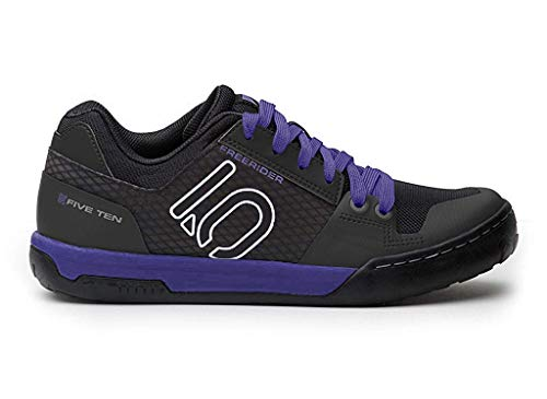Five Ten Freerider Contact Womens Mountain Bike Shoes, (Black, Carbon, Purple), Size 7.5