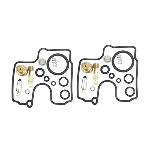 LKANG Carburador 2 Conjuntos de Kit de reparación de carburador de Motocicleta Cojines del Asiento/Adecuado para-SU/Zuki / Sv650 / s/su/u 1999-2002 sv 650 (Color : Ivory)
