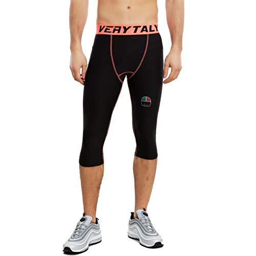 Toocool - Pantaloni Uomo Pantaloncini Fitness Ciclismo Bici Elasticizzati BE-141 [M/L,Arancione]