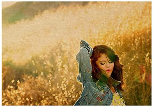 ZYHSB Rompecabezas 1000 Piezas Selena Gomez Star Singer Carteles De Madera Juguetes para Adultos Juego De Descompresión Xc175Lv