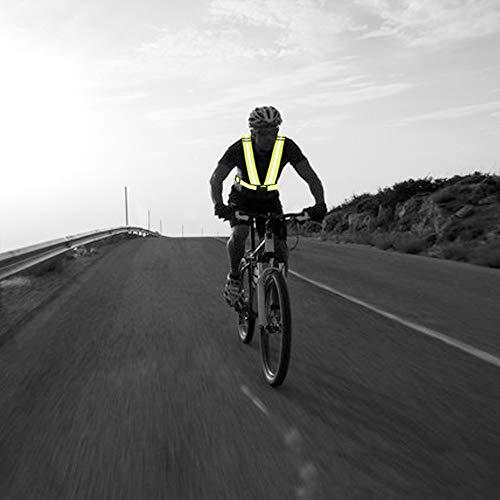 AYKRM Warnweste Fahrrad Reflektorweste Joggen Sicherheitsweste Einstellbar Leicht für Laufen, Motorrad, Running Reflektierende für Erwachsene, Kinder (Blau) - 6