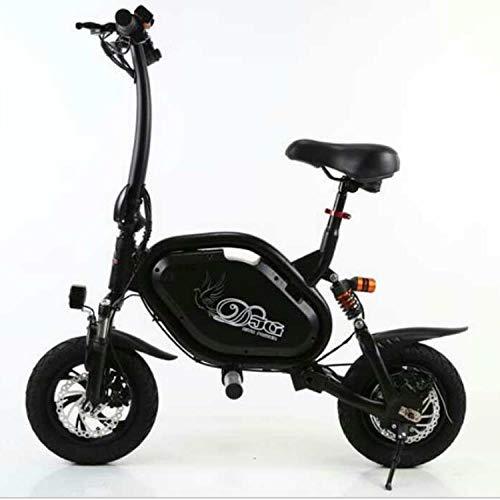 Hokaime Zusammenklappbares elektrisches Fahrrad, elektrisches Miniaturfahrrad, einstellbare Fahrradsicherheit, einstellbares tragbares Fahrrad, 500-W-Motor, Nutzlast 150 kg