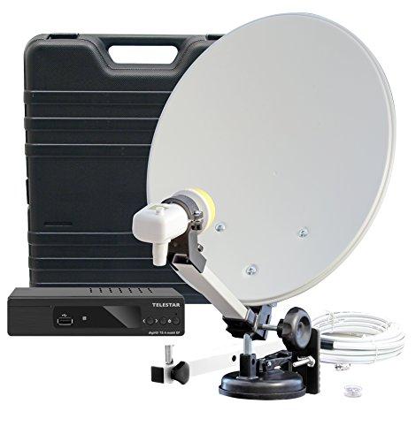 Telestar 5103326 HDTV SAT Camping-Satellite-Anlage mit digiHD TS 4 Mobil EF schwarz