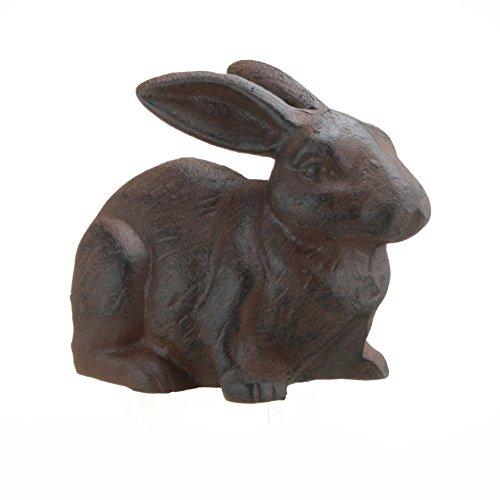 Full Bodied Cast Iron Rabbit Garden Figure by INsideOUT