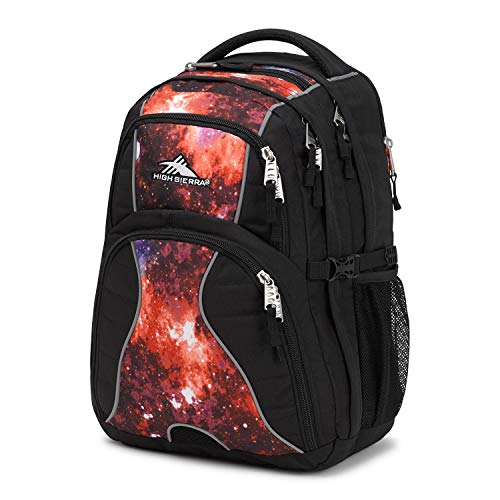 High Sierra Swerve Laptop Backpack, Black/Space Age, 19 x 13 x 7.75-Inch