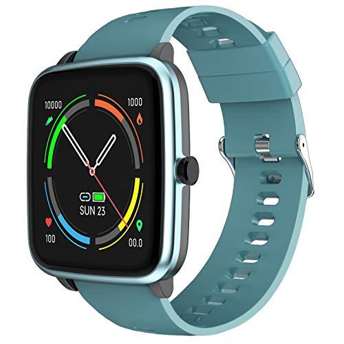 Smartwatch, Reloj Inteligente Hombre con Pulsómetros Monitor de Sueño 5 Caras Podómetro 10 Modos Deportivos y Registrador de Ruta y Smart Watch Pulsera Actividad Inteligente para Hombre y Mujer -Azul