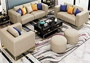 Crestmont Living Room Sofa Set 3 Seater, Double Seater & Single Sofa 3pcs Set