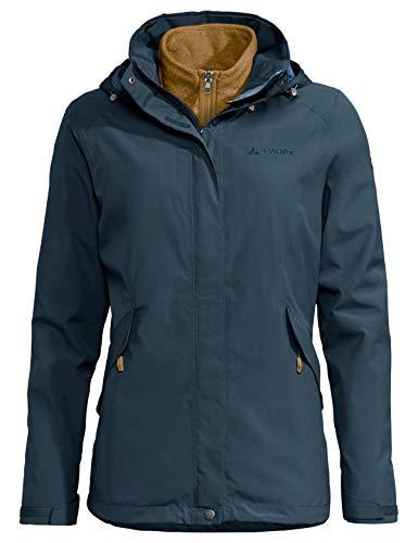 VAUDE Damen Women's Rosemoor 3in1 Jacket Doppeljacke, Steelblue, 38