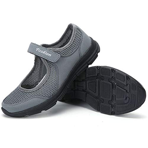 [todaysunny] 船型底ナースシューズ レディース ダイエットシューズ 厚底スニーカー 姿勢矯正 ダイエット 美脚 軽量 レースアップ ウォーキングシューズ 看護師 作業靴 歩きやすい 疲れない 婦人靴 厚底シューズ ダークグレー-2 22.5 c