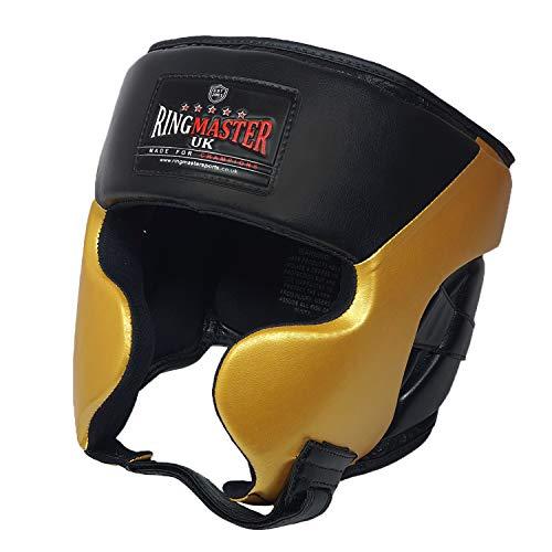 Ringmaster Kopfschutz für Kinder, für Kampfsport, MMA, Kickboxen, Gold, Größe XS