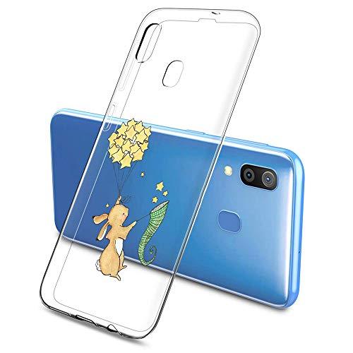 Oihxse Compatible con Samsung Galaxy S10E Silicona Funda Transparente Gel TPU Flexible Protectora Carcasa Dibujos Elefante Patrón Ultra Thin Estuche Cover Case(D4)