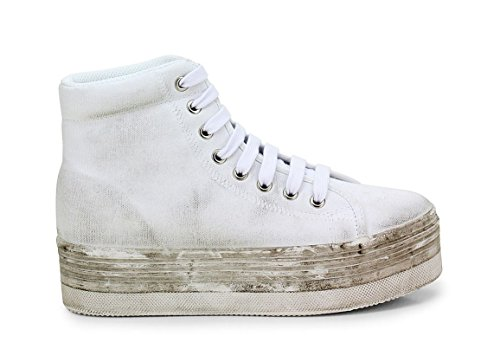 JC PLAY BY JEFFREY CAMPBELL HOMG WASHED CANVAS WHITE (41)