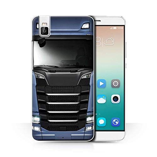 eSwish Hülle/Case für Huawei Honor 7i/ShotX/Blau Muster/LKW HGV Euro Kabine Vorbei Kollektion