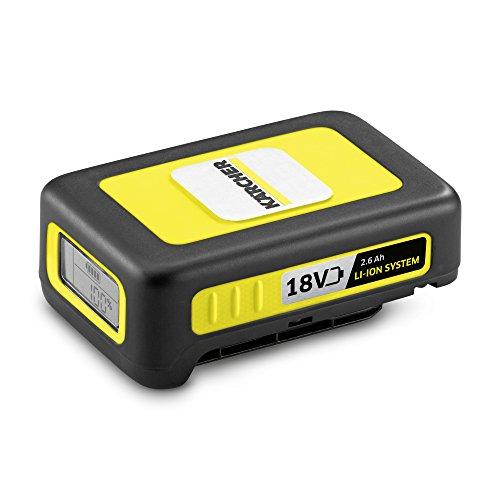 Kärcher 2.445-000.0 Lithium-Ion (Li-Ion) 2600mAh 18V batterie rechargeable - Batteries rechargeables (2600 mAh, Lithium-Ion (Li-Ion), 18 V, Noir, Jaune, 1 pièce(s))