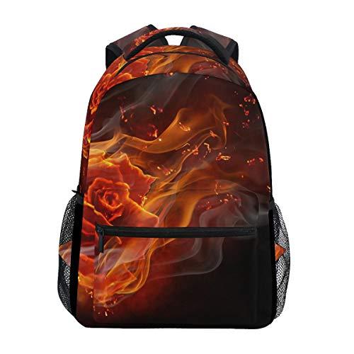Kids/Adult Laptop Backpack,College Backbag,Girl Casual Daypack,Men/Women Travel Knapsack,Boy School Book Bag,Unisex Multifunction Rucksack,Flamy Rose
