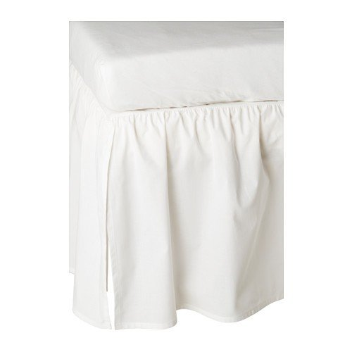 IKEA Babybett-Volant LEN Bettvolant zum Verhängen des Bettgestells von Babybetten - 70x140 cm - waschbar bei 60 Grad - 100% Baumwolle (Rock) - weiß